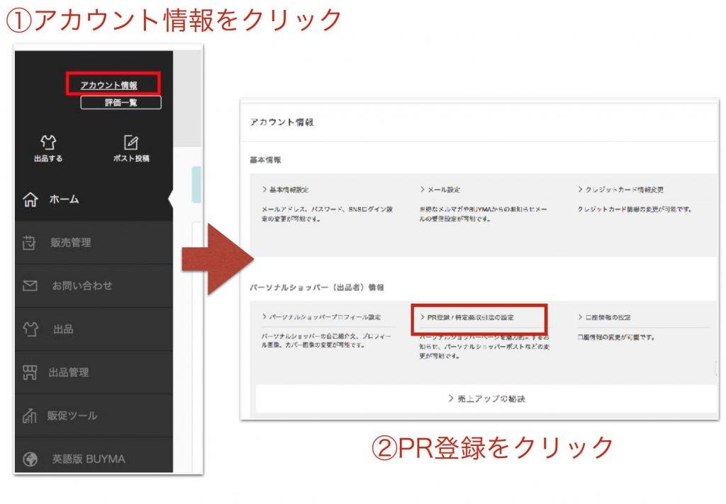 PR登録についての画像